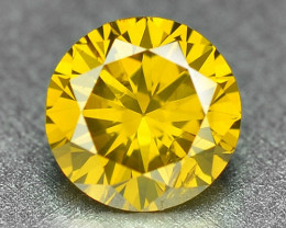 0.25 Cts Sparkling Rare Fancy Vivid Yellow Color Natural Loose Diamond