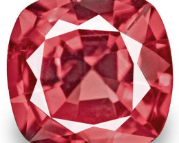 Burma Spinel, 0.71 Carats, Red Cushion