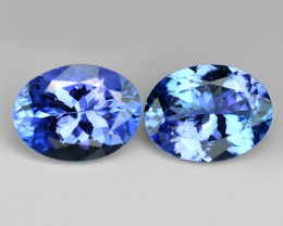 *No Reserve* Tanzanite 2.80 Cts 2pcs Amazing rare Violet Blue Color Natural