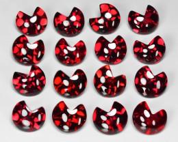 16.11 Cts 16pcs Amazing Rare Cherry Red Natural Rhodolite Garnet  Loose Gem