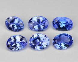 2.05  Cts 6pcs  Oval 5x4 mm Violet Blue Color Natural Tanzanite Gemstone