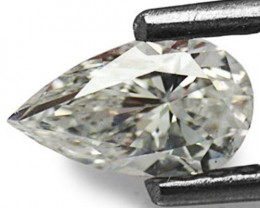 """Guinea Diamond, 0.41 Carats, D (On a Scale of """"D"""" to """"Z"""") Pear"""