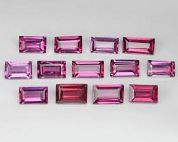 5.90 Cts 13pcs  Octagon Shape 5x3 mm Natural Pink Rhodolite Garnet Loose Ge