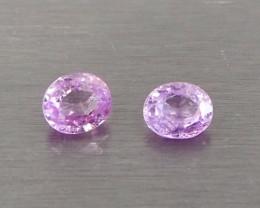 1.38ct unheated pink sapphire pair