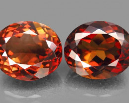 19.46 ct. PairTop Quality 100%  Natural Topaz Orangey Brown  Brazil