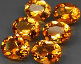 9.60 ct. 100% Natural Unheated Top Yellow Golden Citrine Brazil - 6 pcs
