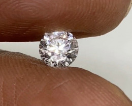 (1) Certified Nat  $1101 Fiery 0.50cts SI1 White Loose Diamond Round