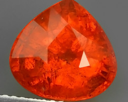 6.70 CTS MARVELOUS HEART PEAR NATURAL TOP FANTA-SPESSARITET DAZZLING  NR!