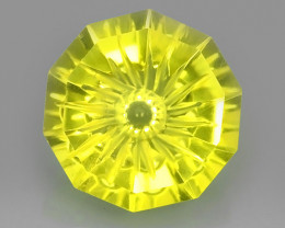 7.85 CTS DAZZLING TOP NATURAL YELLOWISH GREEN FANCY CUT QUARTS NR!