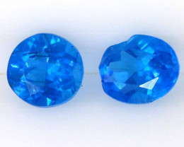 1 CTS NEON BLUE COLOR NATURAL APATITE PAIR    CG-3039