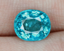 1.44 Cts Unheated Neon Blue Color Natural Apatite Loose Gemstone