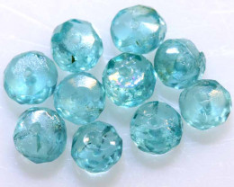 3.80 CTS APATITE beads turquoise blue NP-2703