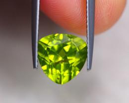 3.40Ct Natural Green Peridot Trillion Cut Lot LZ6107