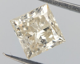 0.824 cts , Light Champagne Diamond ,  Square Cut  , Setting stone , LCP108