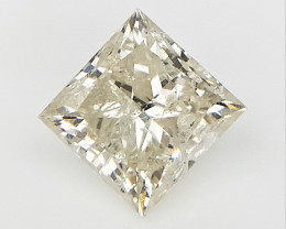 0.824 cts , Light Champagne Diamond ,  Square Cut  , Setting stone , LCP108
