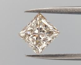 0.45 CTS , Light Yellow Diamond , Princess Brilliant Cut  , LCP1109
