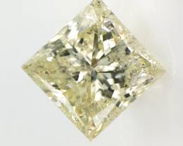 0.74 CTS , Princess brilliant cut Diamond , Yellow Natural Diamond , LCP112