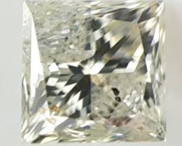 0.46 ct , Light Natural Diamond , Princess Cut , LCP1127