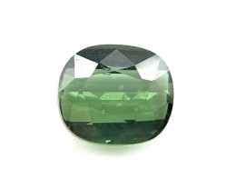 1.76 carats Natural Tourmaline Cushion green verdelite loose gemstone