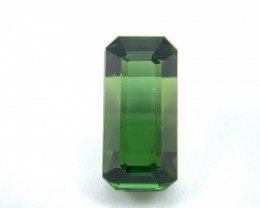 3.48 ct Natural Tourmaline octagon green verdelite loose gemstone