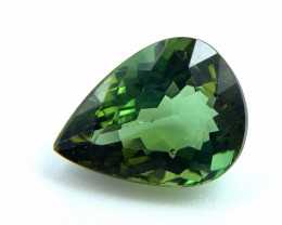 3.22 CT Natural Tourmaline Green Pear loose gemstone for jewelry