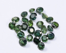 5tcw Natural Blue-Green 3.5mm Mixed Round Sapphire Parcel