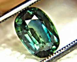 CERTIFIED - 2.98 Ct. Heat Only Blue Green SI Sapphire - Gorgeous