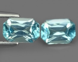2.60 CTS ATTRACTIVE ULTRA RARE NATURAL ZIRCON2 PCS EXECLLENT!!