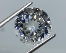 7.97 Carat VVS Topaz - Diamond White Color Precision Cut Nigeria !