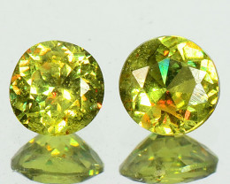 0.30 Cts Untreated Color Changing Natural Demantoid Garnet Pair