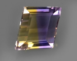 3.50 CTS-EXQUISITE NATURAL UNHEATED FANCY-CUT BI COLOR AMETRINE