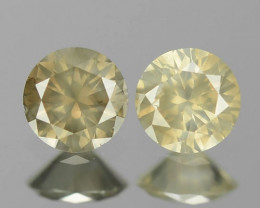 0.16 Cts Untreated Fancy Yellowish Grey Color Natural Loose Diamond Pair