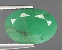 1.91 Cts Natural Green Color Emerald Gemstone