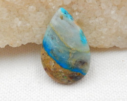 20cts Blue Opal Necklace, October Birthstone, Blue Opal Pendant Bead G463