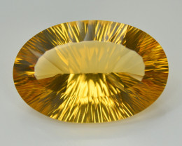 Laser Cut 55.45 Ct Gorgeous Color Natural Citrine