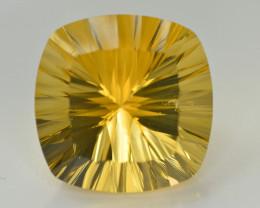 Laser Cut 76.10 Ct Gorgeous Color Natural Citrine
