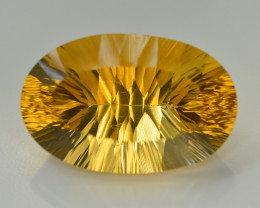 Laser Cut 49.30 Ct Gorgeous Color Natural Citrine