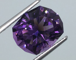 5.04 Carat VVS Amethyst Master Cut to Perfection Untreated Brazil!