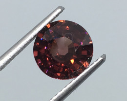 2.53 Carat VVS Zircon Cinnamon Red Unheated Tanzania Rare !