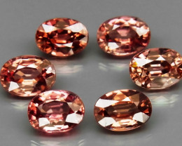 8.55 Ct. Natural Rich Pink  Zircon Cambodia - 6 ps