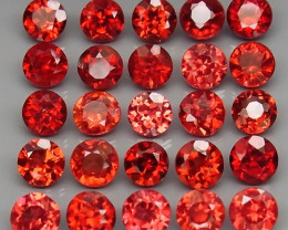 8.86 ct. Natural Hot Red Rhodolite Garnet Africa - 25 Pcs