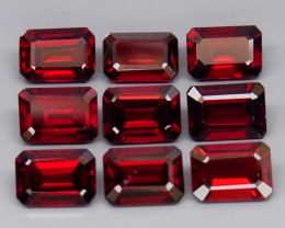 10.47 ct. Natural Top Red Rhodolite Garnet Africa - 9 Pcs
