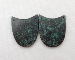 56cts African Turquoise Earring Pair,Healing Stone G484
