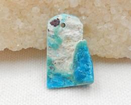 12cts Blue Opal Pendant, October Birthstone, Blue Opal Pendant Bead G496