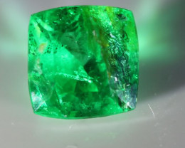 Emerald .65ct Cushion Shape Nice Green