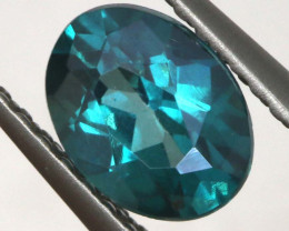 0.85 CTS  GREEN TOPAZ FACETED GEMSTONE  CG-3070