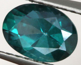 0.90 CTS  GREEN TOPAZ FACETED GEMSTONE  CG-3073