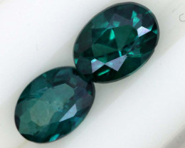 1.24 CTS  GREEN TOPAZ FACETED GEMSTONE PARCEL CG-3076