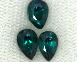 1.60 CTS  GREEN TOPAZ FACETED GEMSTONE PARCEL CG-3084