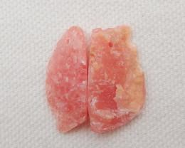 25.5cts 2pcs Rhodonite Earrings Raw beads, stone for earrings making G509